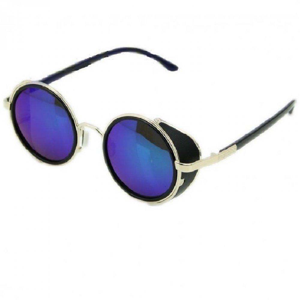 Очила с капаци сини стъкла бяла рамка