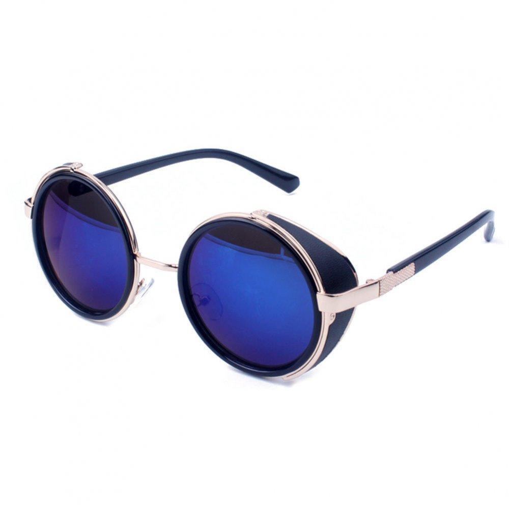 Слънчеви очила сини големи стъкла