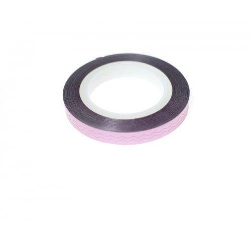 Лента за нокти - Зиг заг в розово
