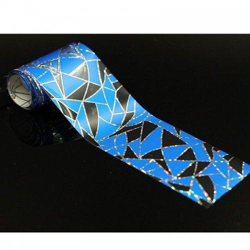 Стикер - Сини триъгълници