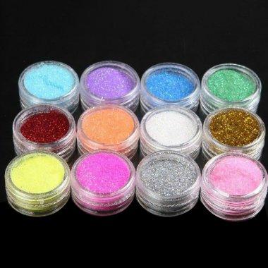 Брокати за нокти 12 цвята