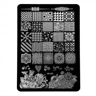 Голям правоъгълен печат - Геометрични елементи