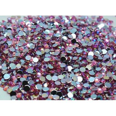Блестящи камъчета за нокти в розово