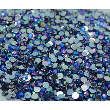 Блестящи камъчета за нокти в синьо
