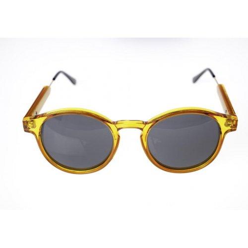 Очила с пластмасови жълти рамки