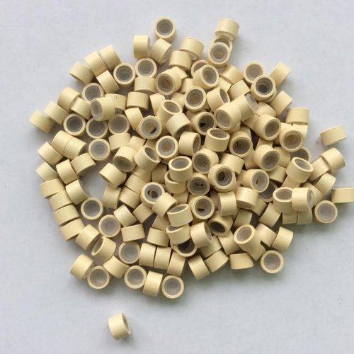 4,5 мм пръстени със силикон - много светло русо
