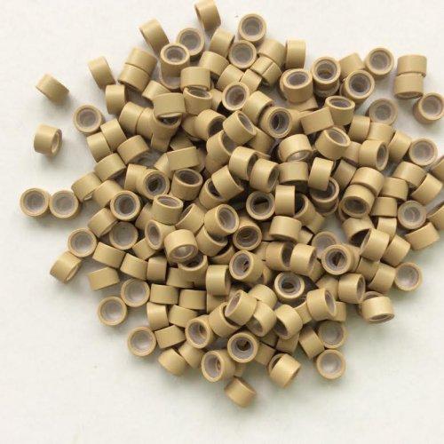 4,5 мм пръстени със силикон - русо
