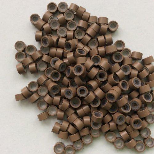 4,5 мм пръстени със силикон - светло кафяво