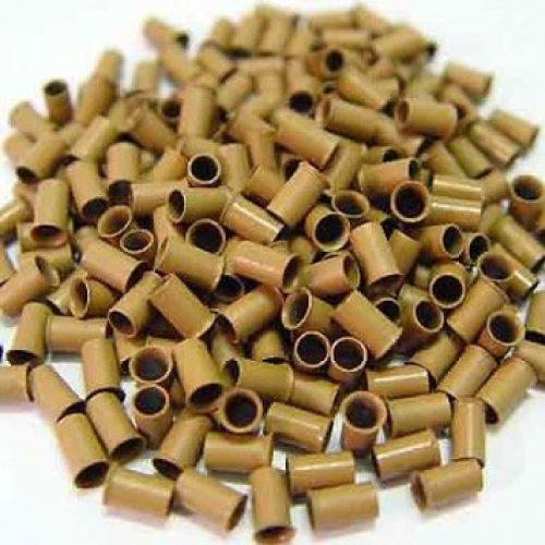 4 мм медни пръстени - светло кафяво