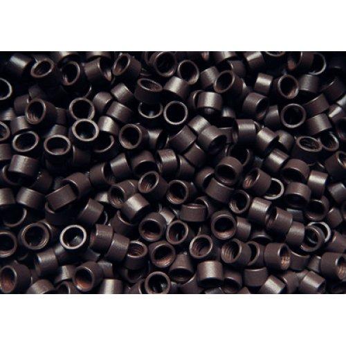 4 мм пръстени без силикон - тъмно кафяво