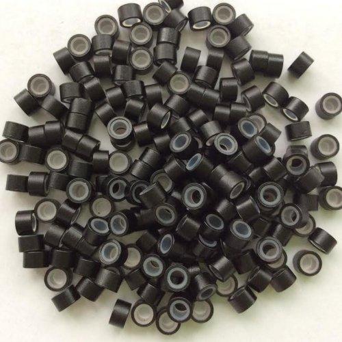 4 мм пръстени със силикон - черно