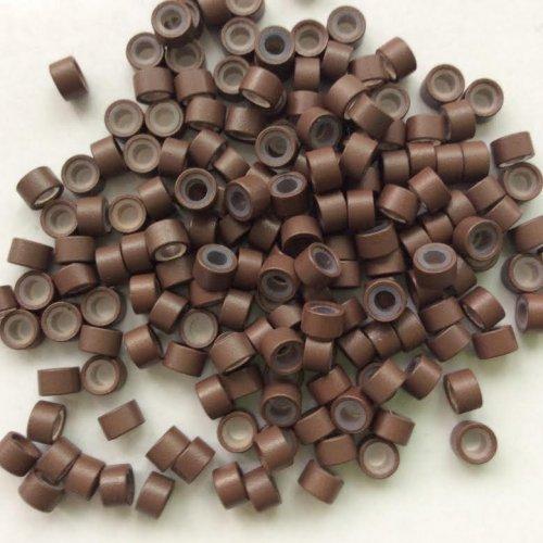 4 мм пръстени със силикон - кафяво