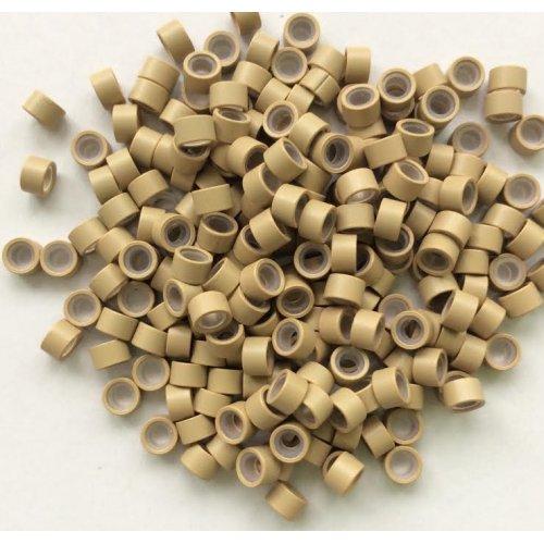 5 мм пръстени със силикон - русо