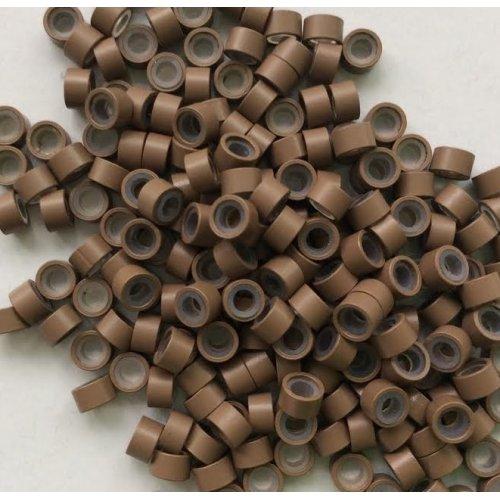 5 мм пръстени със силикон - светло кафяво