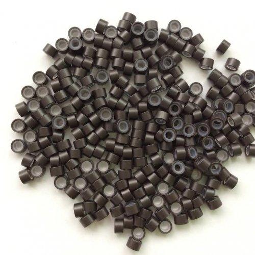 5 мм пръстени със силикон - тъмно кафяво