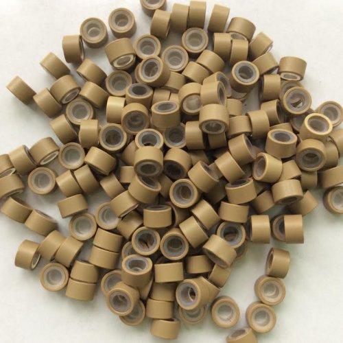 5 мм пръстени със силикон - тъмно русо
