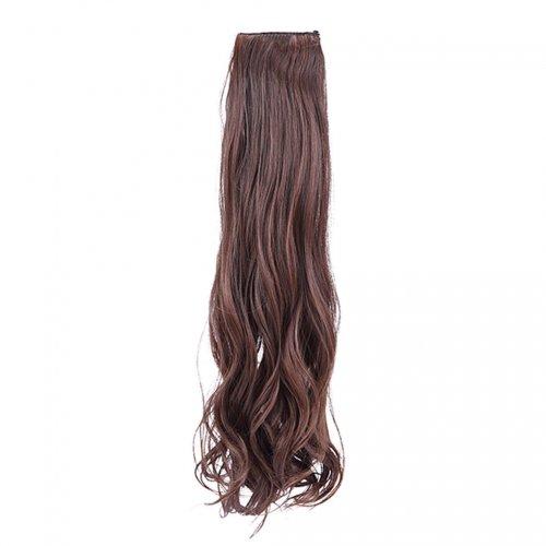 Изкуствена чуплива коса - светъл кестен