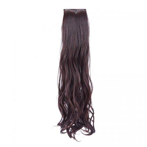 Изкуствена чуплива коса - тъмен кестен