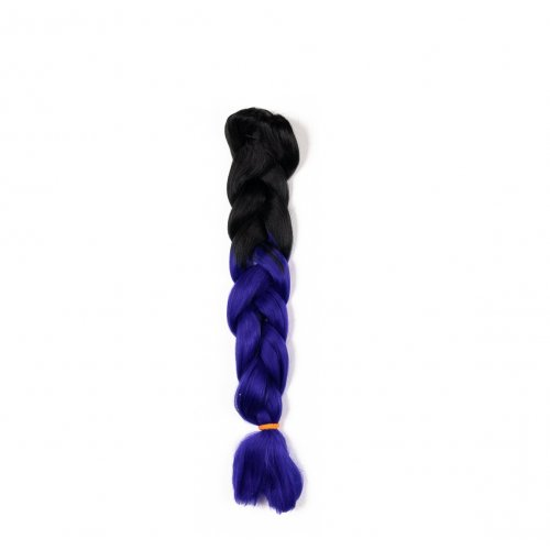 Канекалон 82 сантиметра - черно и индигово синьо