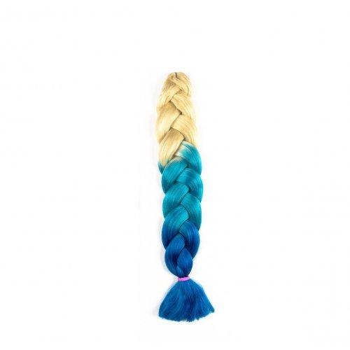 Канекалон 82 сантиметра - русо, светло и тъмно синьо