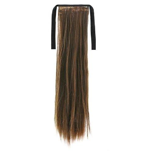 Опашка прав косъм с лента - кестеняво