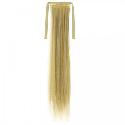 Опашка прав косъм с лента - русо