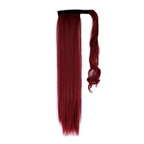 Опашка с лента от изкуствен косъм - червено