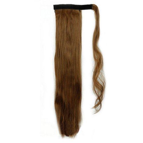Опашка с лента от изкуствен косъм - кафяво