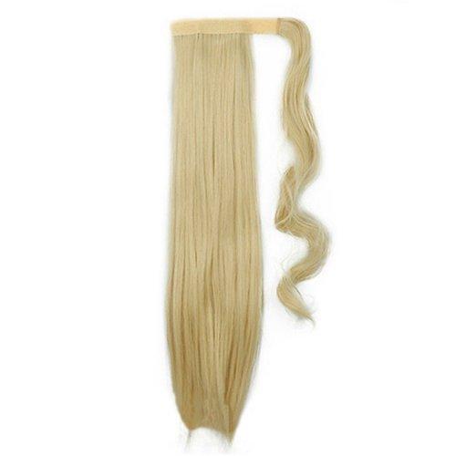 Опашка с лента от изкуствен косъм - светло русо