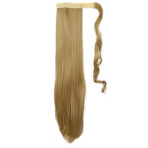 Опашка с лента от изкуствен косъм - златисто русо