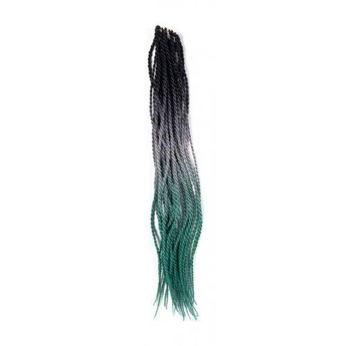 Трицветен сенегалски туистър - черно, сиво и зелено