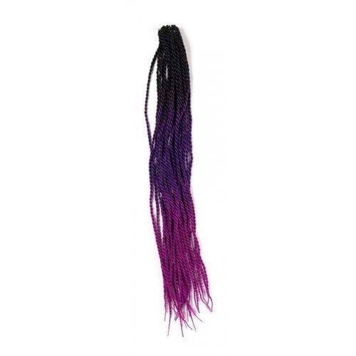 Трицветен туистър омбре - черно, тъмно лилаво, розово