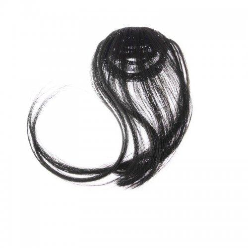 Закачлив кичур за коса - кафяво към черно