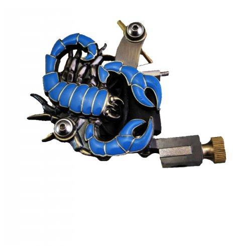 Машина за татуиране син скорпион