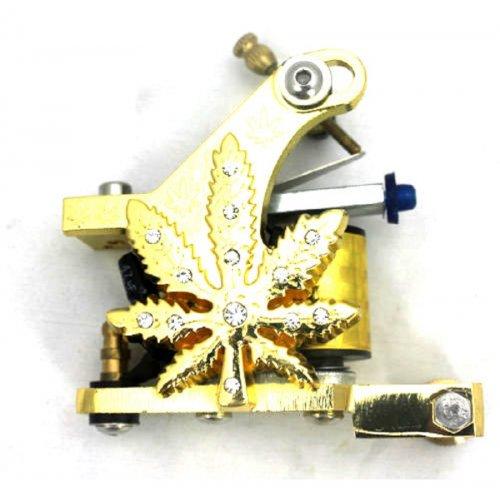 Машина за татуиране златисто листо