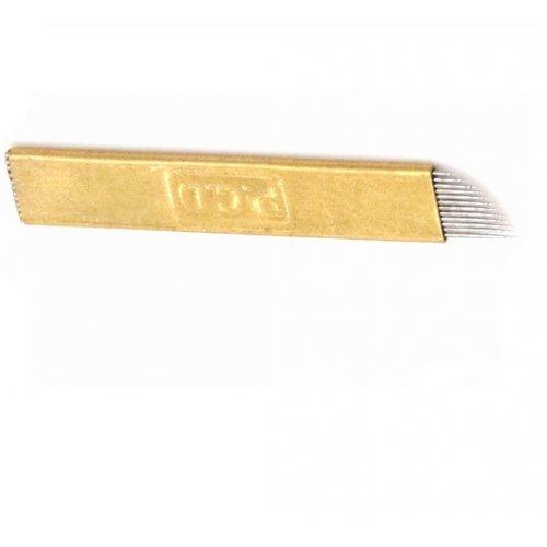 Перманентен грим ръчен метод - игла златна 12F