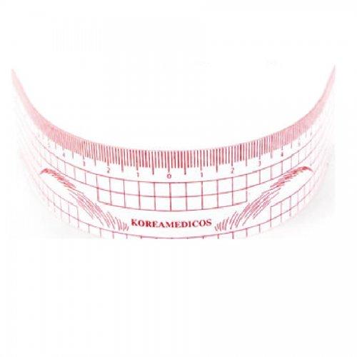 Перманентен грим - шаблон за вежди от еластична пластмаса