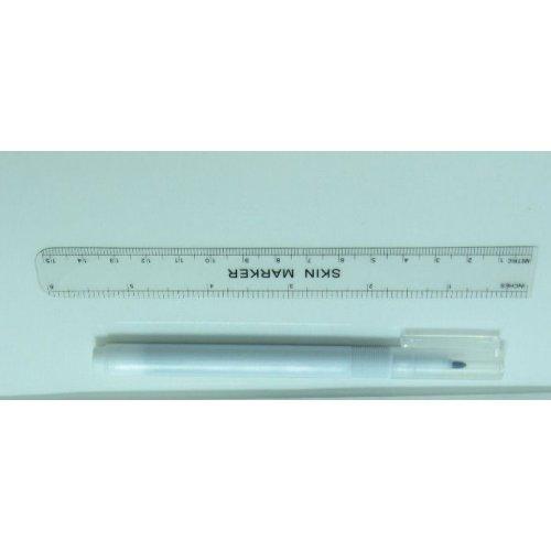 Перманентен грим - водоустойчив маркер с линийка