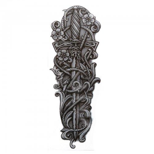 Временна татуировка с меч