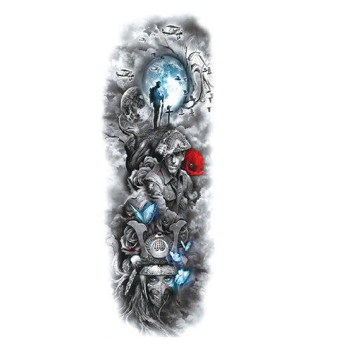 Временна татуировка червено цвете