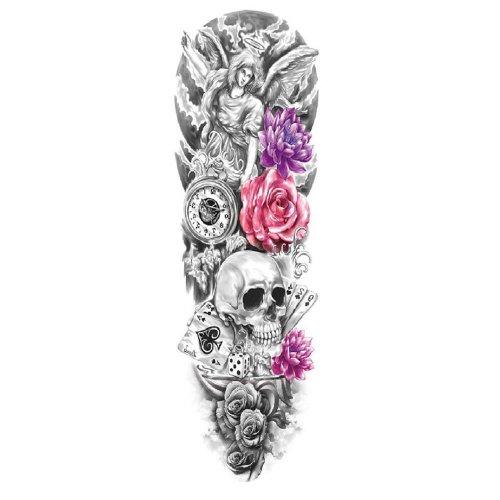 Временна татуировка червена роза