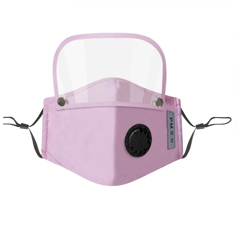 Маска за лице - розов шлем