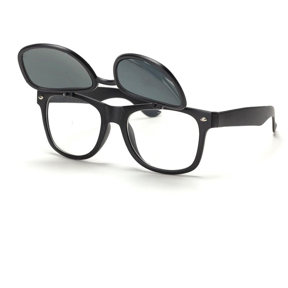 Слънчеви очила с вдигаща се предна част черни рамки