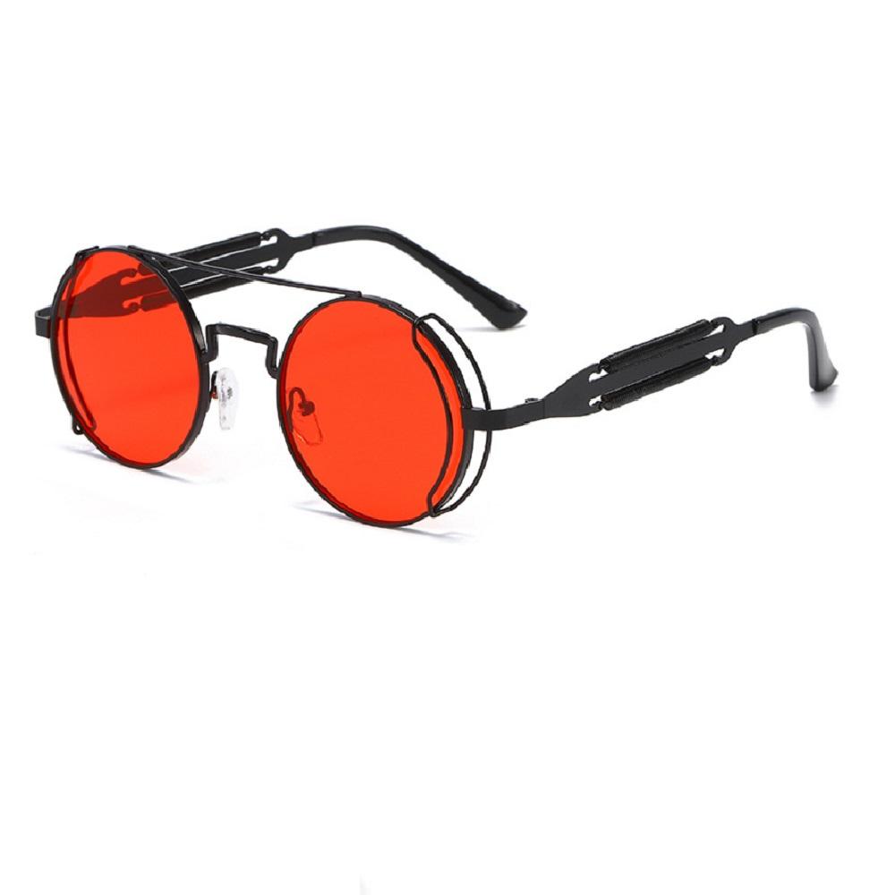 Слънчеви очила в черно с червени стъкла