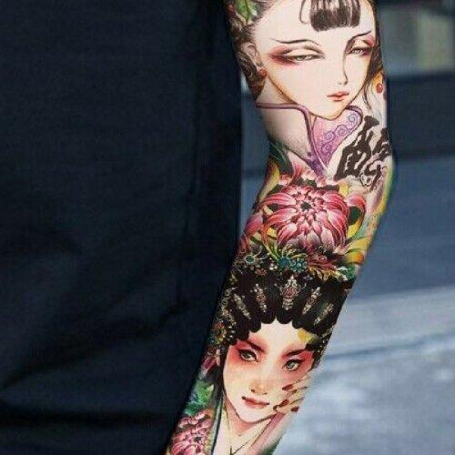 Цветни временни татуировки