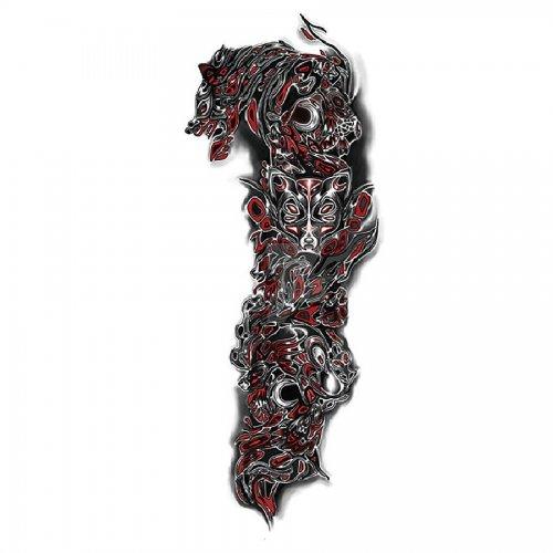 Временна татуировка вълк
