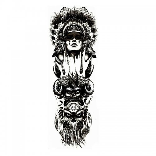 Черно-бяла временна татуировка