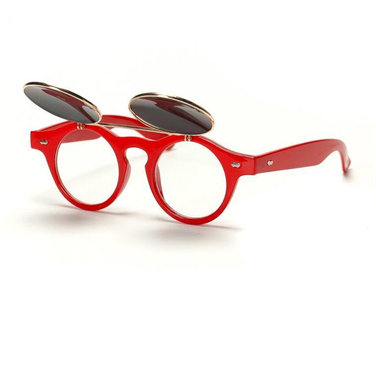 Очила с вдигаща се предна част червени рамки