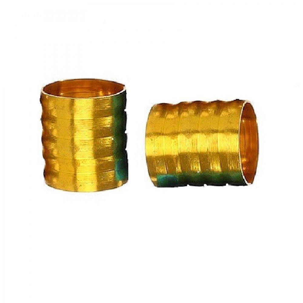Жълти пръстени за плитки 10 броя