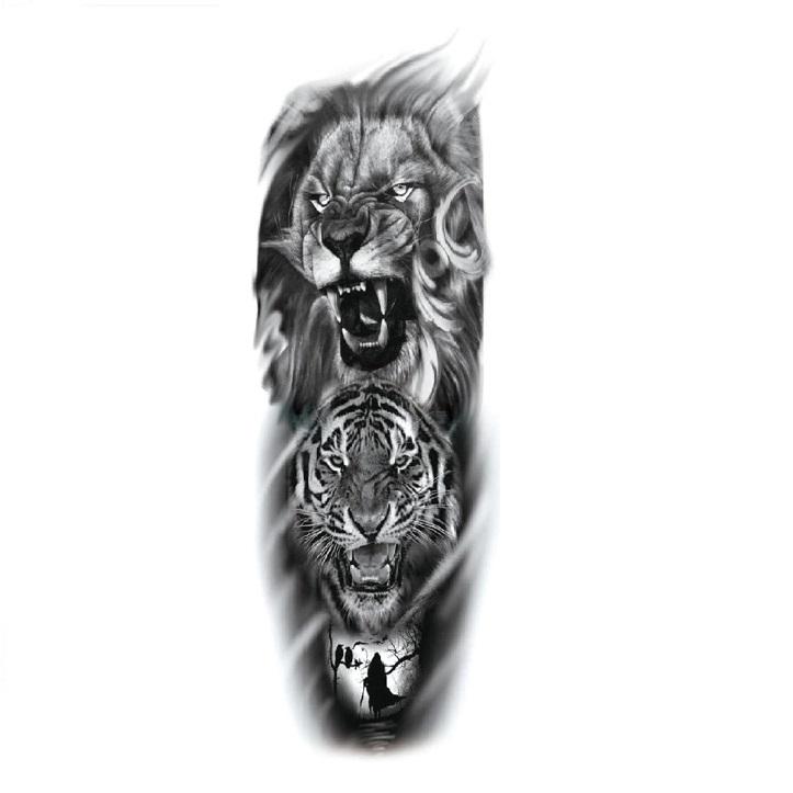 Временни черно-бели татуировки